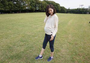 妊娠8カ月の私でもちょうどよく着れました