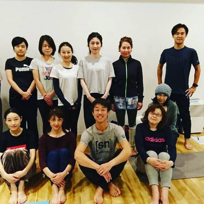 京都の高島屋さんでのヨガイベント『はじめてみよう リラックスヨガ』